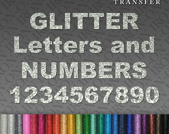 Personalized Name Iron On Christmas Glitter Letters /& Numbers transfers Hot Fix