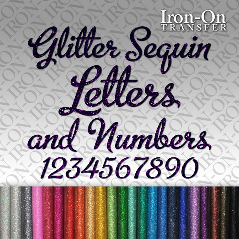 Personalized Solid Letters /& Numbers Iron-on Vinyl Transfer Custom Sticker Craft