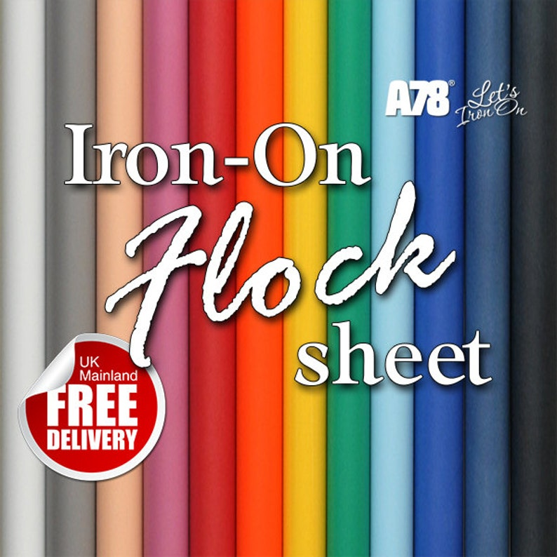 Holographic Iron-on sheet Sparkle Hot fix Clothing Vinyl Transfer 20cm x 25cm
