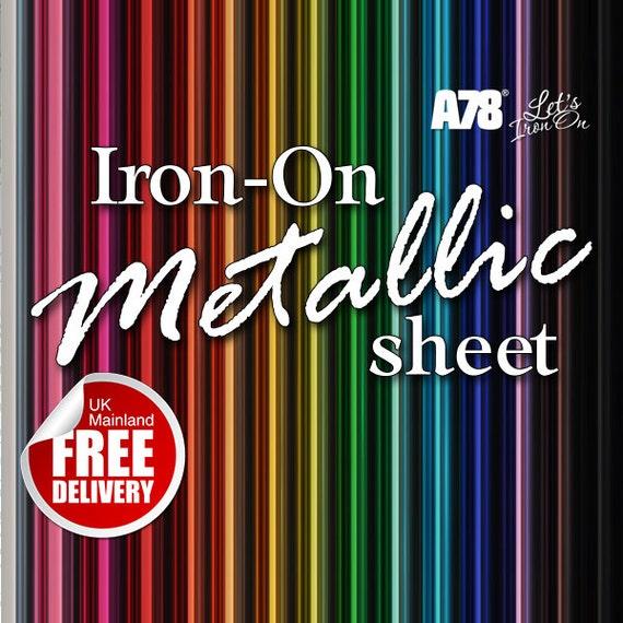 Plain Solid Iron-On Clothing Vinyl Transfer sheet 20cm x 25cm Sticker Craft