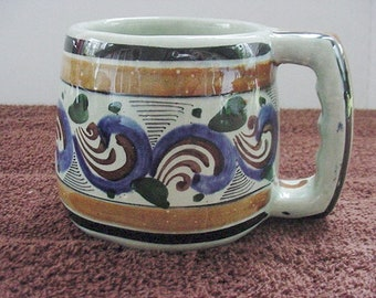 Tonala Coffee Cup Mug Hand Painted Cat 321 Mexico