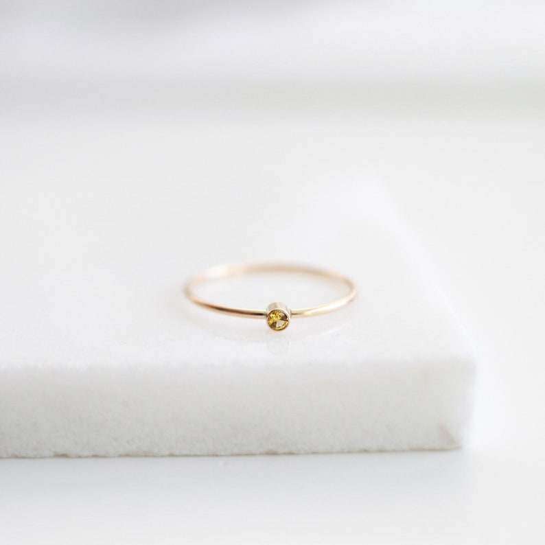 Tiny Turquoise Dainty Sterling Silver Ring,Gemstone Ring,14K Gold Filled Minimal Ring,Mothers Gift,December Birth Ring,Gift For Her