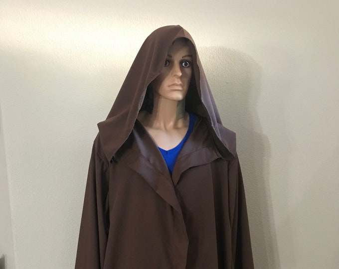 Jedi, Wizard, Warlock Dark Brown Robe