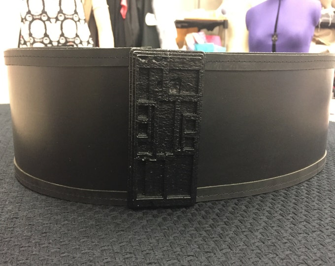 Star Wars KYLO REN inspired Leather Belt and Buckle   4 1/2 inch