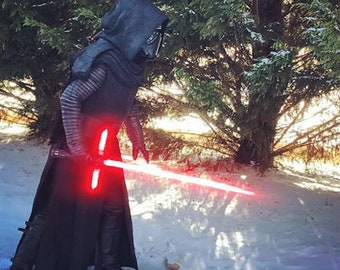 KYLO REN Inspired Yayahan Basketweave Robe with hooded and cape    501st acceptable