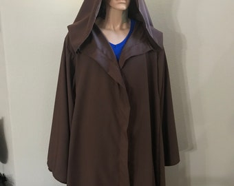 Jedi, Wizard, Warlock Dark Brown Robe ready to ship