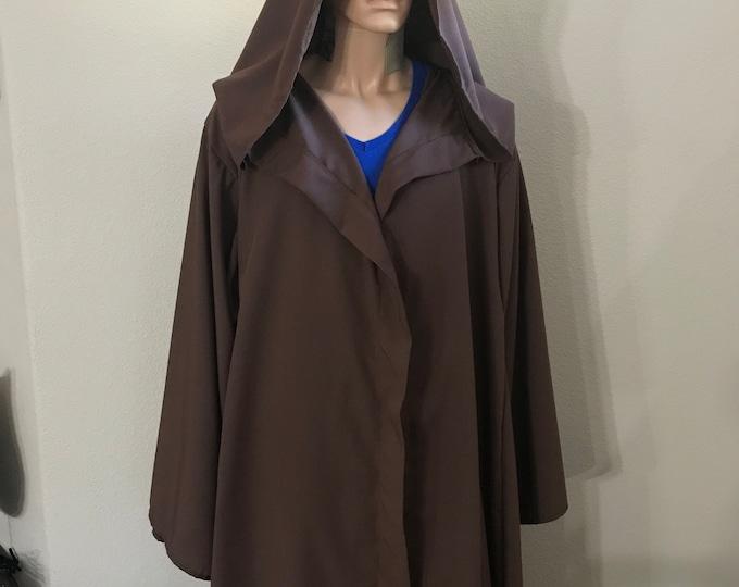 Jedi, Wizard, Warlock Dark Brown Robe ready to ship
