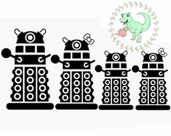 Custom Dalek Family Vinyl Decal