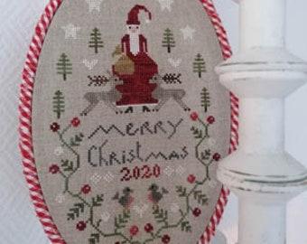 "TRALALA ""Noel Ovale"" • Counted Cross Stitch Pattern • Christmas, Santa"