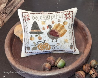 """PDF DOWNLOAD • Samplers and Primitives """"Be Thankful"""" • Counted Cross Stitch Pattern • Instant Download"""