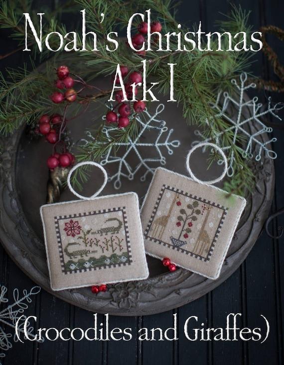 Noah/'s Christmas Ark Plum Street Samplers Cross Stitch Pattern
