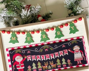 """Taking PreOrders!!!  STITCHING WITH the HOUSEWIVES """"Claus Christmas"""" • Counted Cross Stitch Pattern"""