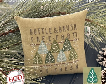 """Taking PreOrders!!!  HANDS on DESIGN """"Bottle & Brush Tree Farm"""" • Counted Cross Stitch Pattern •"""