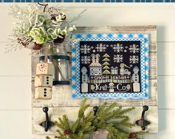 """Taking PreOrders!!!  STITCHING WITH the HOUSEWIVES """"Calendar Crates - January"""" • Counted Cross Stitch Pattern"""
