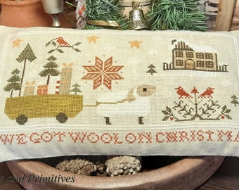 """PDF DOWNLOAD • Samplers and Primitives """"Ewe Got Wool"""" • Counted Cross Stitch Pattern • Instant Download"""