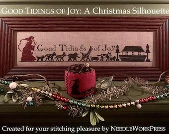 "NEEDLEWORKPRESS ""Good Tidings of Joy: A Christmas Silhouette"" • Fall Needlework Expo 2021"
