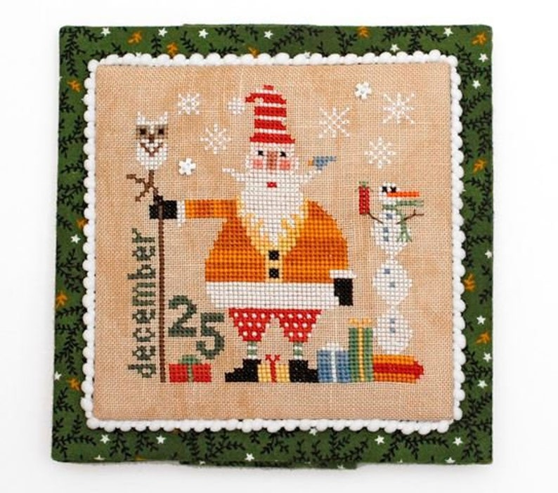 HEART IN HAND Wee One: Santa 2018  Counted Cross image 0