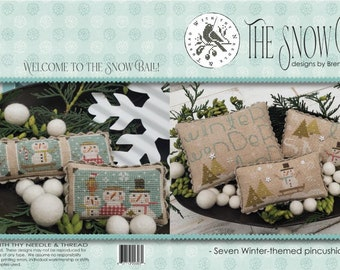 """Taking PreOrders!!! WITH THY NEEDLE & Thread """"The Snow Ball"""" • Counted Cross Stitch Pattern • Winter"""