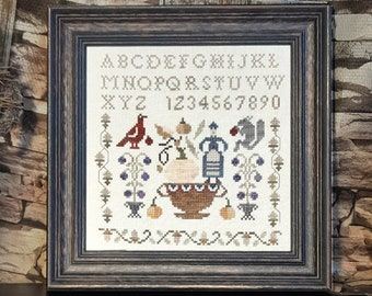"""PDF DOWNLOAD • Samplers and Primitives """"Nature's Bounty"""" • Counted Cross Stitch Pattern • Instant Download"""