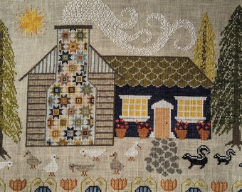 """PDF DOWNLOAD • Sarcygurl Designs """"Cabin In The Woods"""" • Counted Cross Stitch Pattern • Instant Download"""