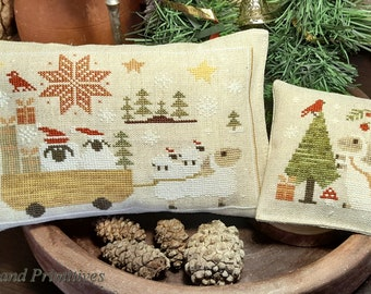 """PDF DOWNLOAD • Samplers and Primitives """"Ewe And Kids"""" • Counted Cross Stitch Pattern • Instant Download"""