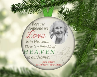 in memory memorial ornaments custom personalized photo christmas ornament one of a kind personalized loved one or1006