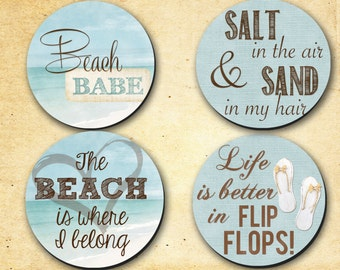 Coasters - Beach Theme 2 - Hostess Gifts, Wedding, Home warming or just for the heck gifts. 0025