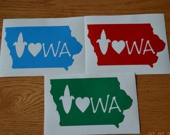 State of Iowa Iowa Vinyl Decal