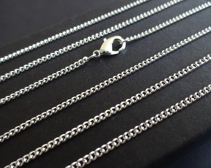 18 Inch Brass Twisted Curb Chain, Necklace Chain, Jewelry Making, Basic Chain, Lobster Claw Clasp, Brass Chain, Simple Chain, Link Chain