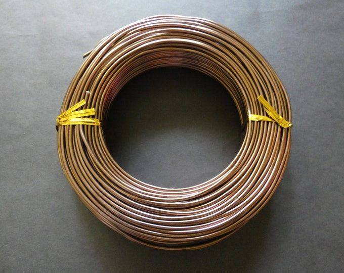 55 Meters Of 2mm Brown Aluminum Jewelry Wire, 2mm Diameter, 500 Grams Of Beading Wire, Brown Metal Wire For Jewelry Making & Wire Wrapping