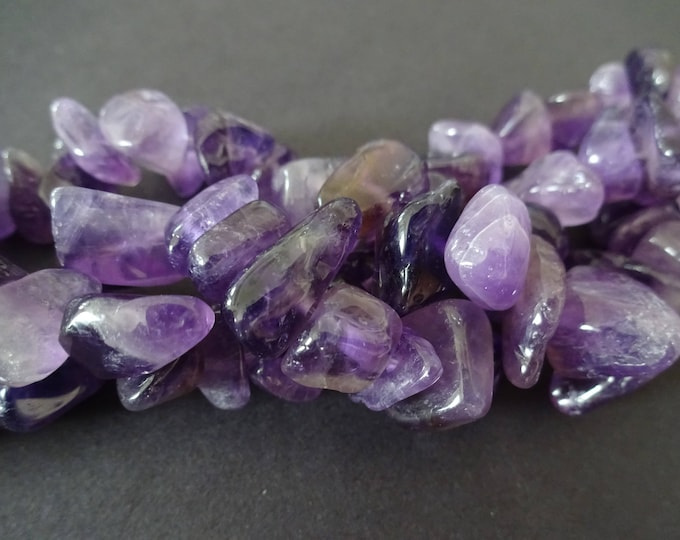 75 Natural Amethyst Nugget Beads, Natural Stone Beads, Purple Beads, Bead Strand, Bead Stone Nuggets, Mixed Size Rock Chips, Amethyst Bead