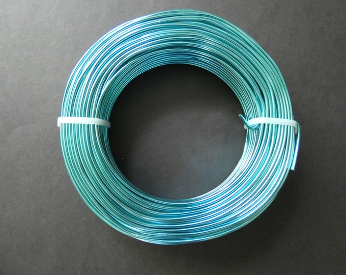 55 Meters Of 2mm Bright Turquoise Aluminum Jewelry Wire, 2mm Diameter, 500 Grams Of Beading Wire, Blue Metal Bulk Wire For Jewelry Making