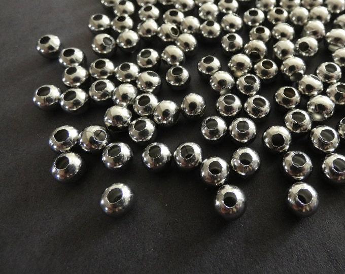 Metal perlas metallspacer tubo 6x15mm fädelloch 2,5 mm 20 unidades serajosy