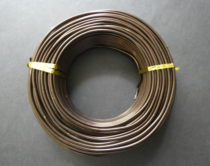 35 Meters Of 2.5mm Brown Aluminum Jewelry Wire, 2.5mm Diameter, 500 Grams Of Beading Wire, Brown Metal Wire, Jewelry Making & Wire Wrapping