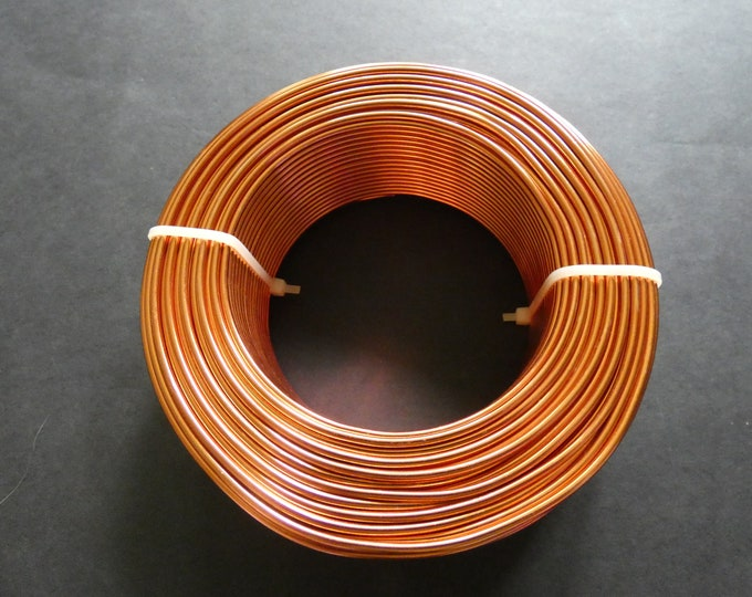 50 Meters Of 2mm Rust Orange Aluminum Jewelry Wire, 2mm Diameter, 500 Grams, Beading Wire, Orange Metal Wire, Jewelry Making, Wire Wrapping