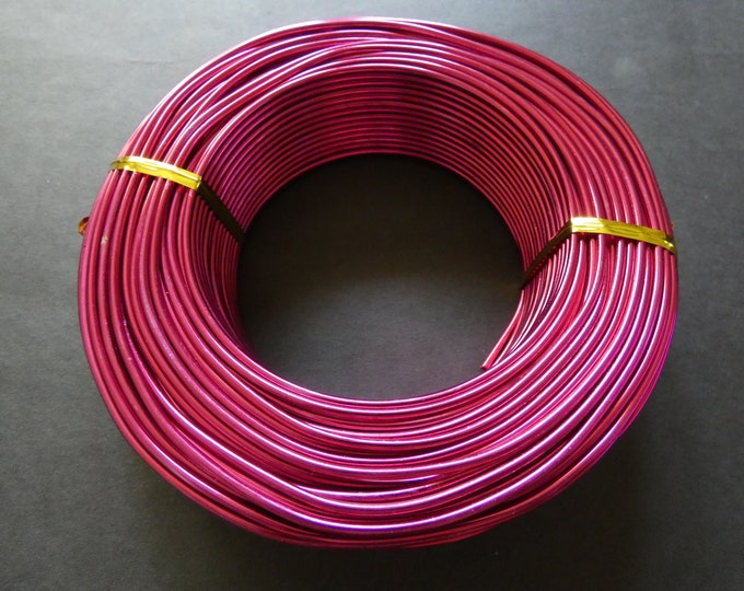 55 Meters Of 2mm Violet Red Aluminum Jewelry Wire, 2mm Diameter, 500 Grams Of Beading Wire, Bright Red Metal Wire, Jewelry Making, Bulk Wire