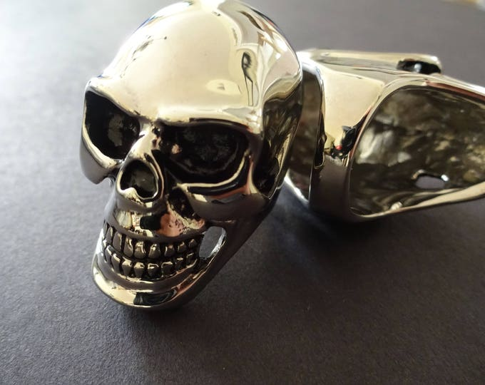 Skull 316L Stainless Steel Ring, Skull Ring, Large Ring, Cool Ring, Skull Jewelry, Halloween Jewelry, Skull Band, Skeleton Ring, Steel Band