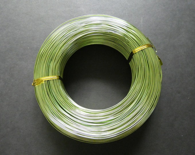 200 Meters Of 1mm Light Green Aluminum Jewelry Wire, 1mm Diameter, 500 Grams Beading Wire, Green Metal Wire, Jewelry Making, Wire Wrapping