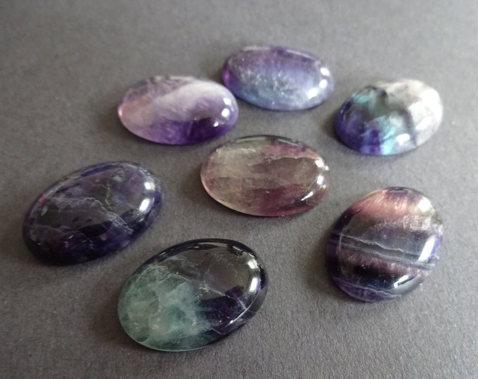 25x18mm Natural Fluorite Gemstone Cabochon, Oval Cabochon, Polished Gem, Large Cabochon, Natural Gemstone, Polished, Natural Stone
