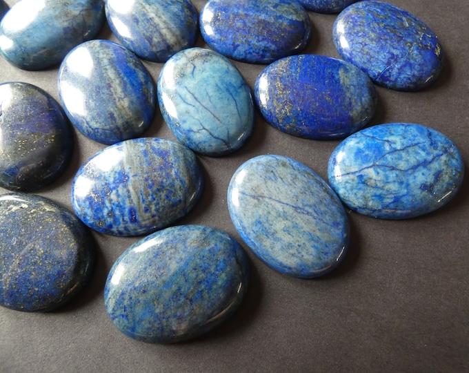 40x30mm Natural Denim Lapis Lazuli Cabochon, Oval Cabochon, Polished Stone,  Gold & Blue Stone Cabochon,  Blue Fashion Stone, Lapis Cab