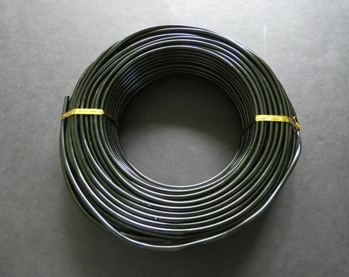 25 Meters Of 3mm Black Jewelry Wire, 3mm Diameter, 500 Grams Of Beading Wire, Black Metal Wire Lot For Jewelry Making & Wire Wrapping