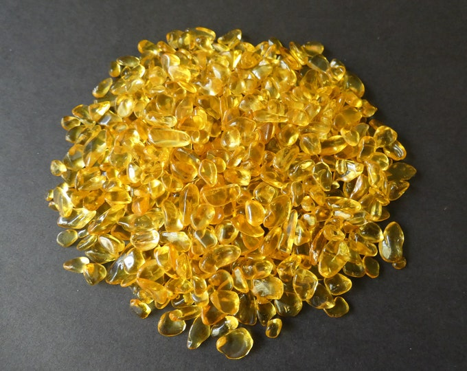 200 Grams Natural Citrine Chips, Undrilled, 4-16x3-7x2-5mm, No Holes, Citrine Nuggets, Transparent, Pale Light Yellow, Citrine Beads