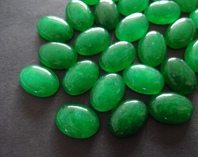 18x13mm Natural Malaysia Jade Gemstone Cabochon, Oval Cabochon, Polished Gem, Green Cabochon, Natural Stone, Jade Stone, Bold Green Jade