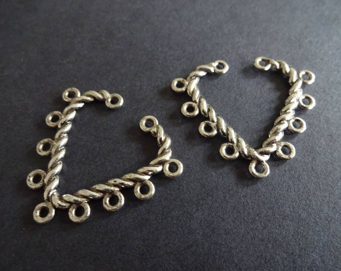 28mm Alloy Metal Chandelier Component, Heart Link, Chandelier Earring Making, Metal Link, Chandelier Jewelry Making, Antique Silver Color