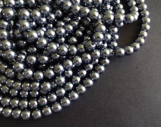 1 Strand 4mm Dark Green Pearl Glass Pearls 216 Beads