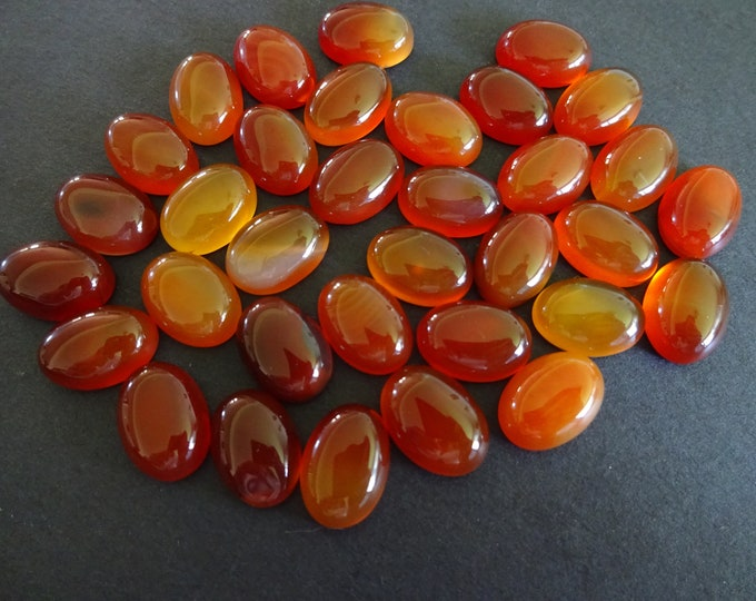 14x10mm Natural Carnelian Gemstone Cabochon, Oval Cabochon, Polished Gem, Red Carnelian, Natural Stone, Extra Large Focal, Grade AB