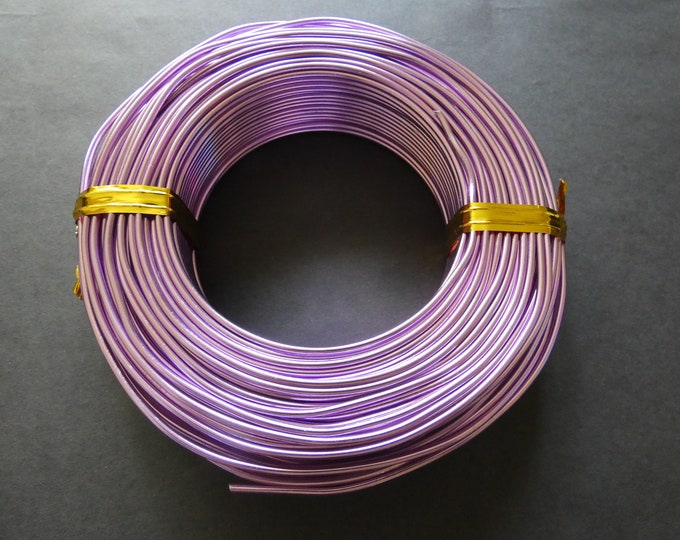 55 Meters Of 2mm Orchid Aluminum Jewelry Wire, 2mm Diameter, 500 Grams Of Beading Wire, Purple Metal Wire For Jewelry Making & Wire Wrapping