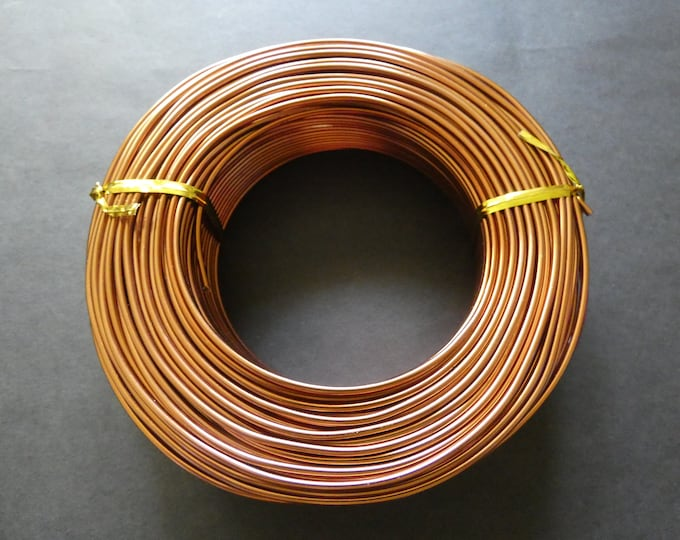 55 Meters Of 2mm Sienna Aluminum Jewelry Wire, 2mm Diameter, 500 Grams Of Beading Wire, Brown Metal Wire For Jewelry Making & Wire Wrapping
