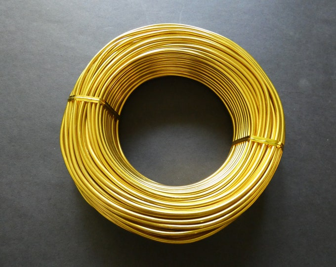 35 Meters Of 2.5mm Gold Aluminum Jewelry Wire, 2.5mm Diameter, 500 Grams Of Beading Wire, Golden Metal Wire, Jewelry Making & Wire Wrapping