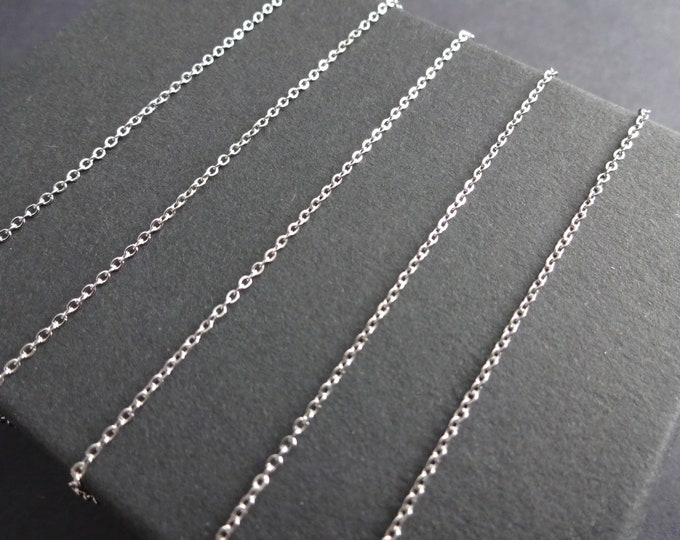 10 Meters 304 Stainless Steel Rolo Chain, Soldered, 1.5x1.2mm Chain Bulk Lot, Silver Color, Spool Of Dainty Jewelry Chain, Classic, Simple